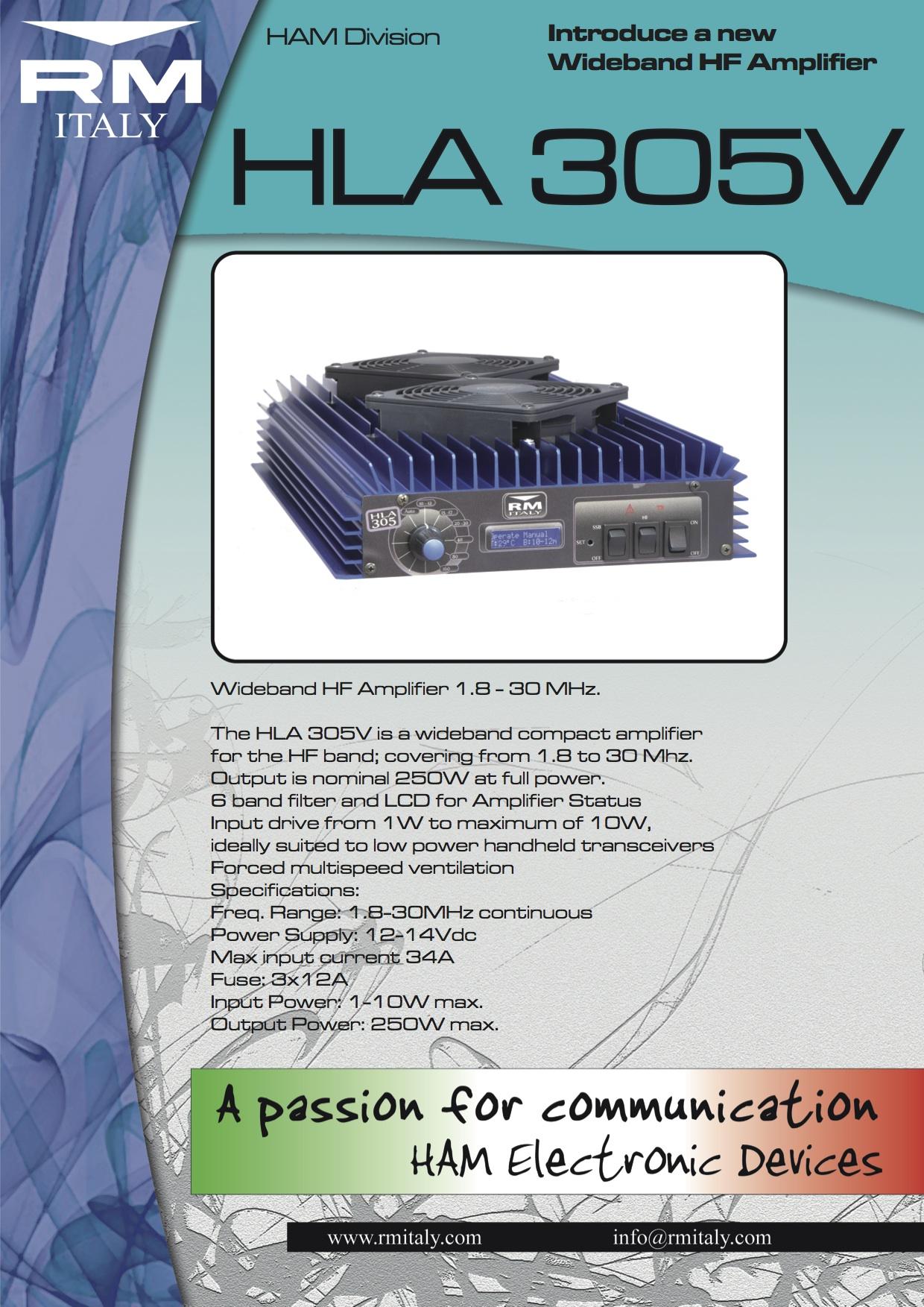 Dnj Radio Blog Rm Italy Hla 300 Plus Linear Amplifier Vs The New Hf 300khz 30mhz 305v