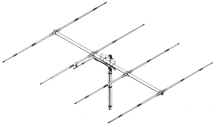 Sirio SY 27-4 4 elements Yagi Beam CB Antenna