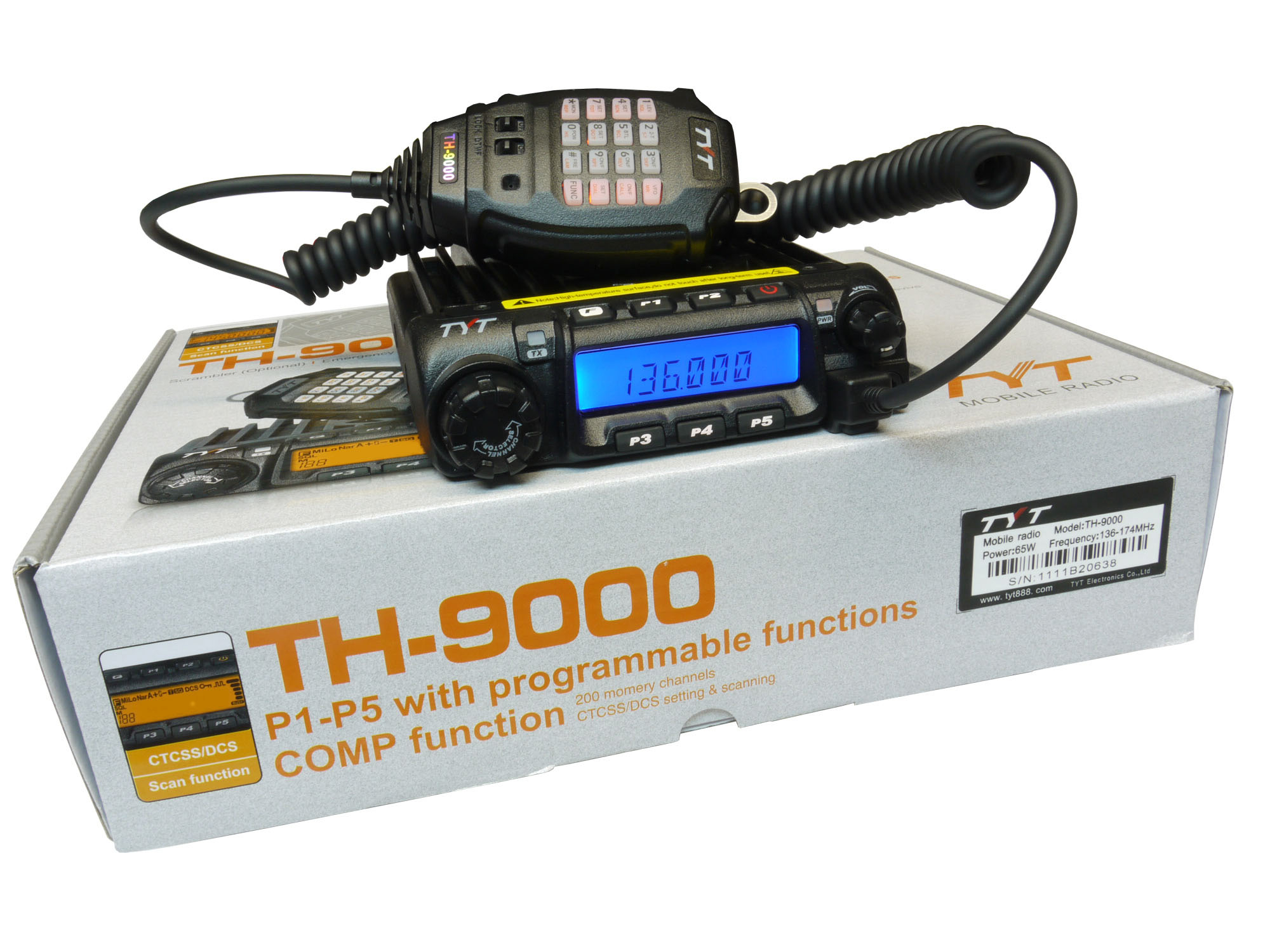 TYT TH-9000D VHF 136-174MHz Mobile Transceiver